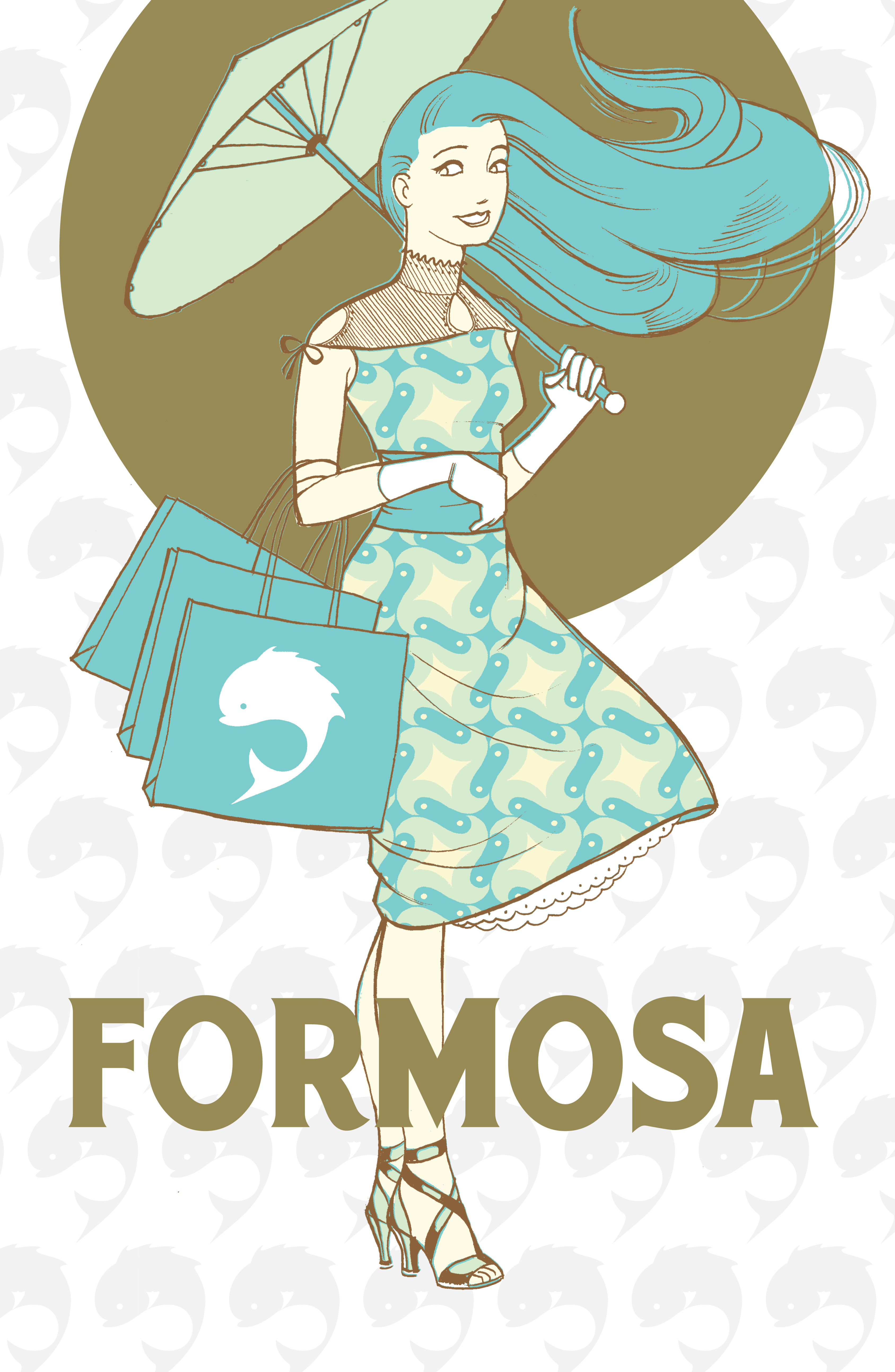 The formosa girl peter litster i took a slightly labor intensive approach early on by using layered bitmaps to simulate the look of vintage lithography ccuart Choice Image