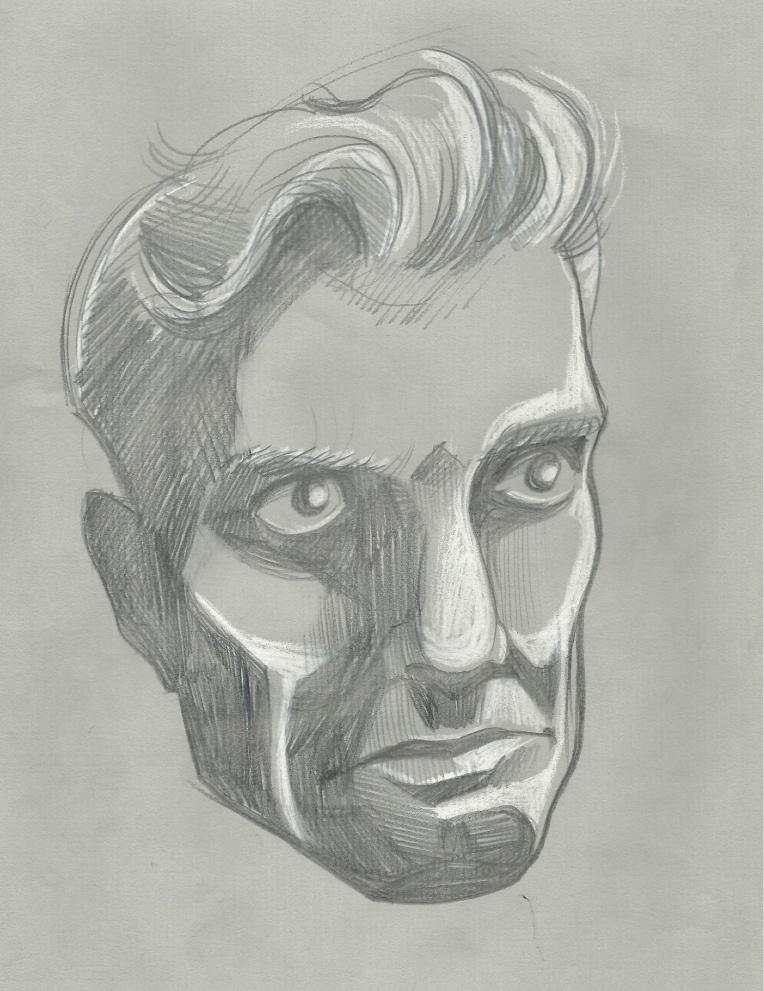 Portrait on grey